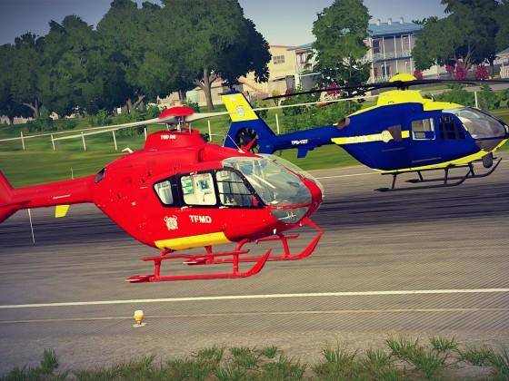 EC635 Helikopter - TFMD und POLICE