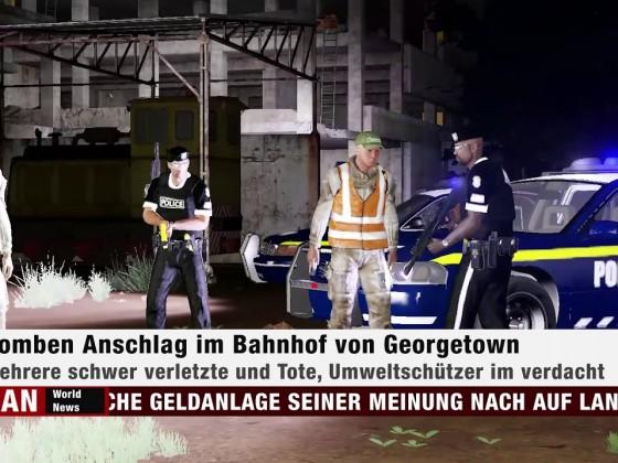 Bombenanschlag im Bahnhof von Georgetown